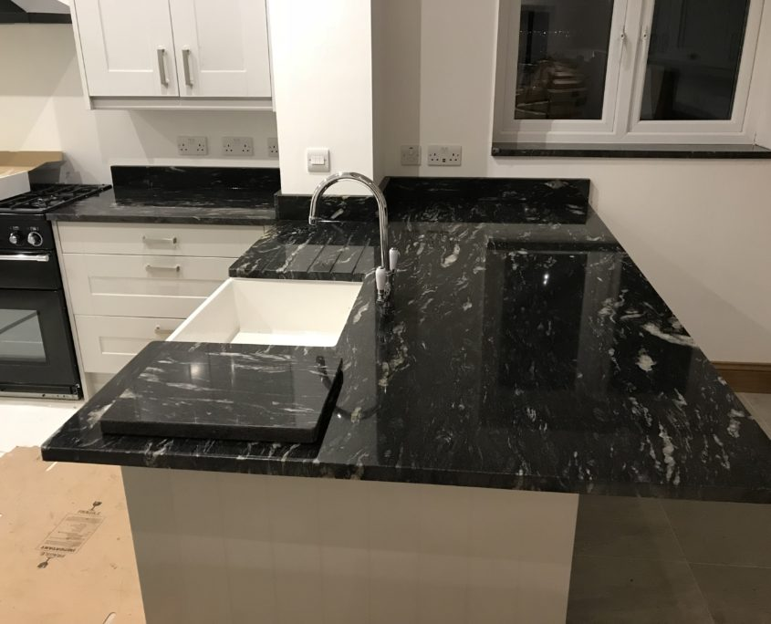 Cosmic Black Granite Worktop